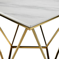 Lynn End Table - Marble and Gold