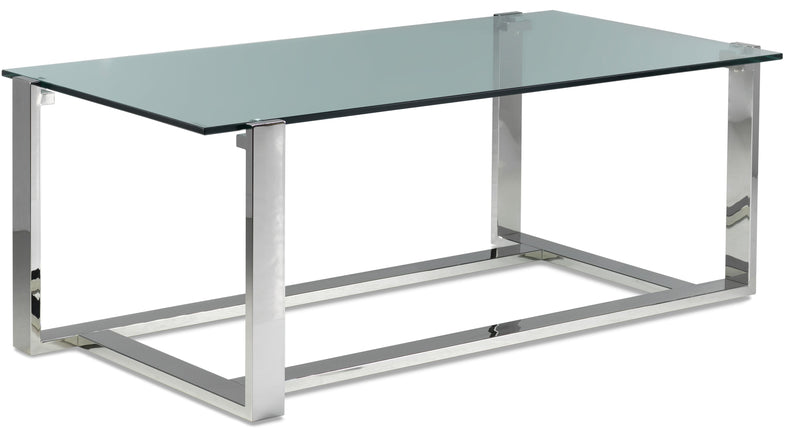 Sidney Coffee Table - Stainless Steel and Glass