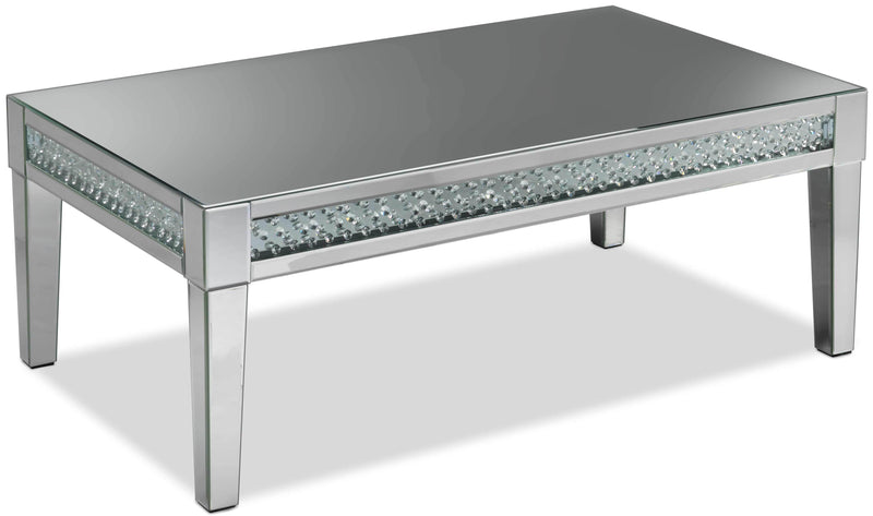 Aria Coffee Table - Mirrored Glass