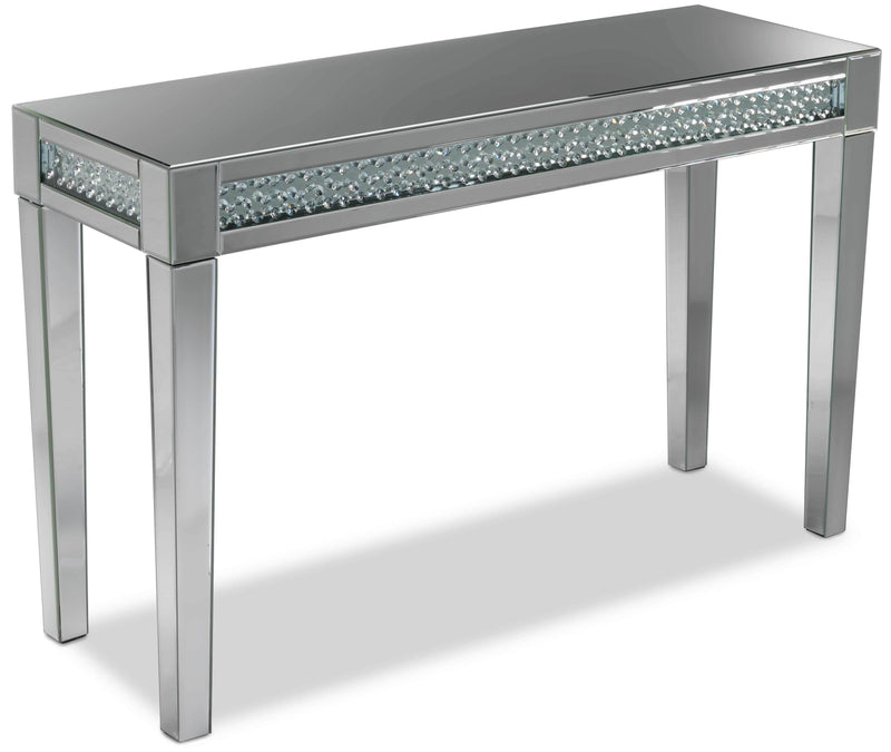 Aria Sofa Table - Mirrored Glass