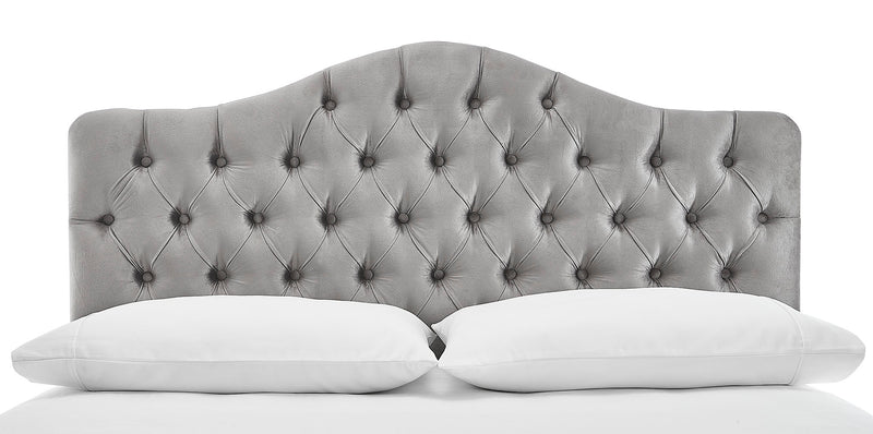 Lexa King Headboard - Light Grey