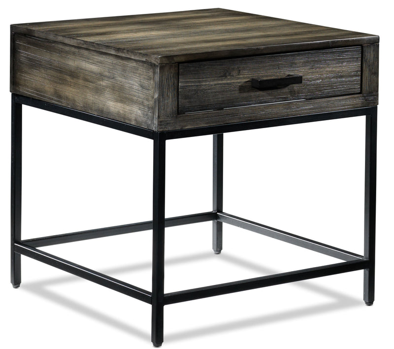 Asher End Table - Grey
