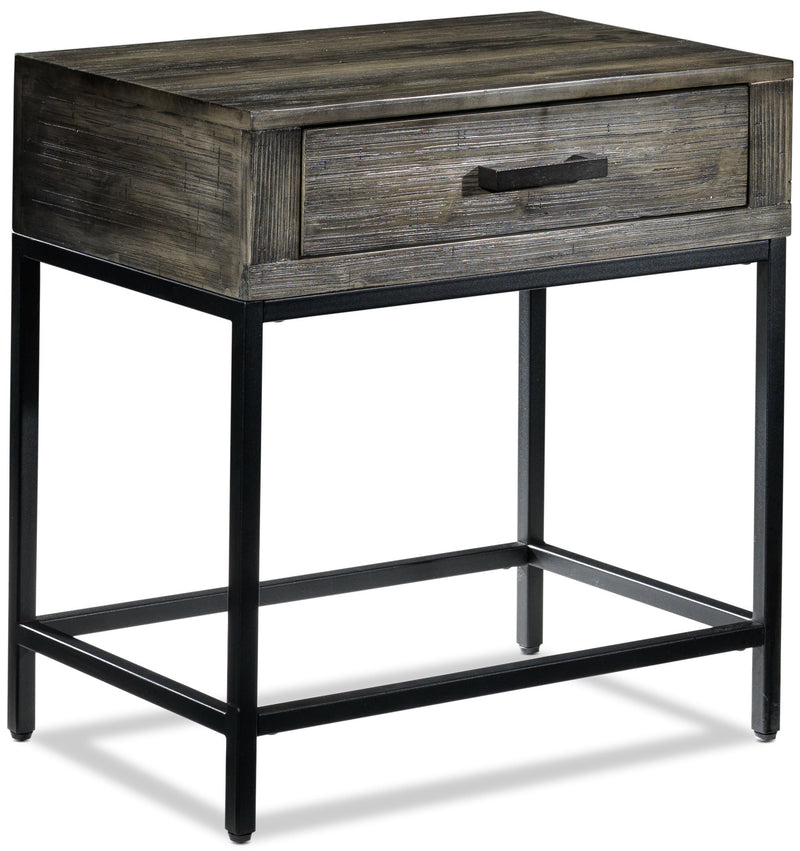Asher Chairside Table - Grey