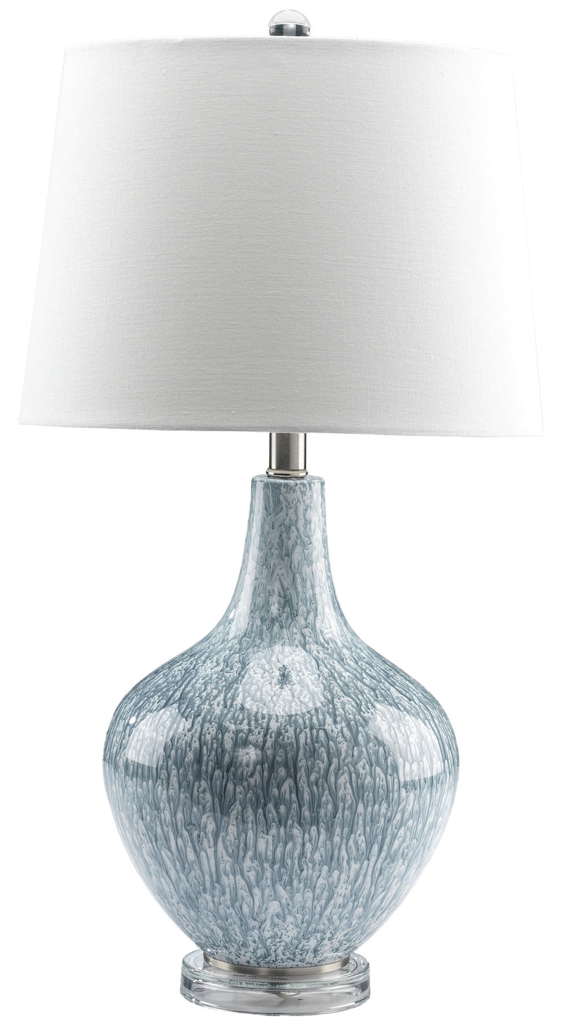 "Elaine 27"" Table Lamp - Mottled Blue"