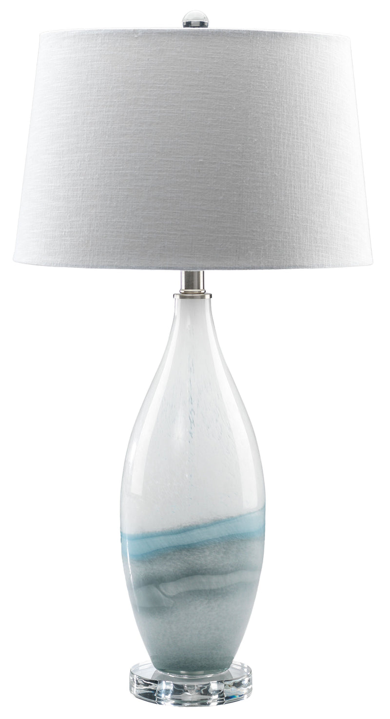 "Bayou 29"" Table Lamp - Light Grey and Blue"