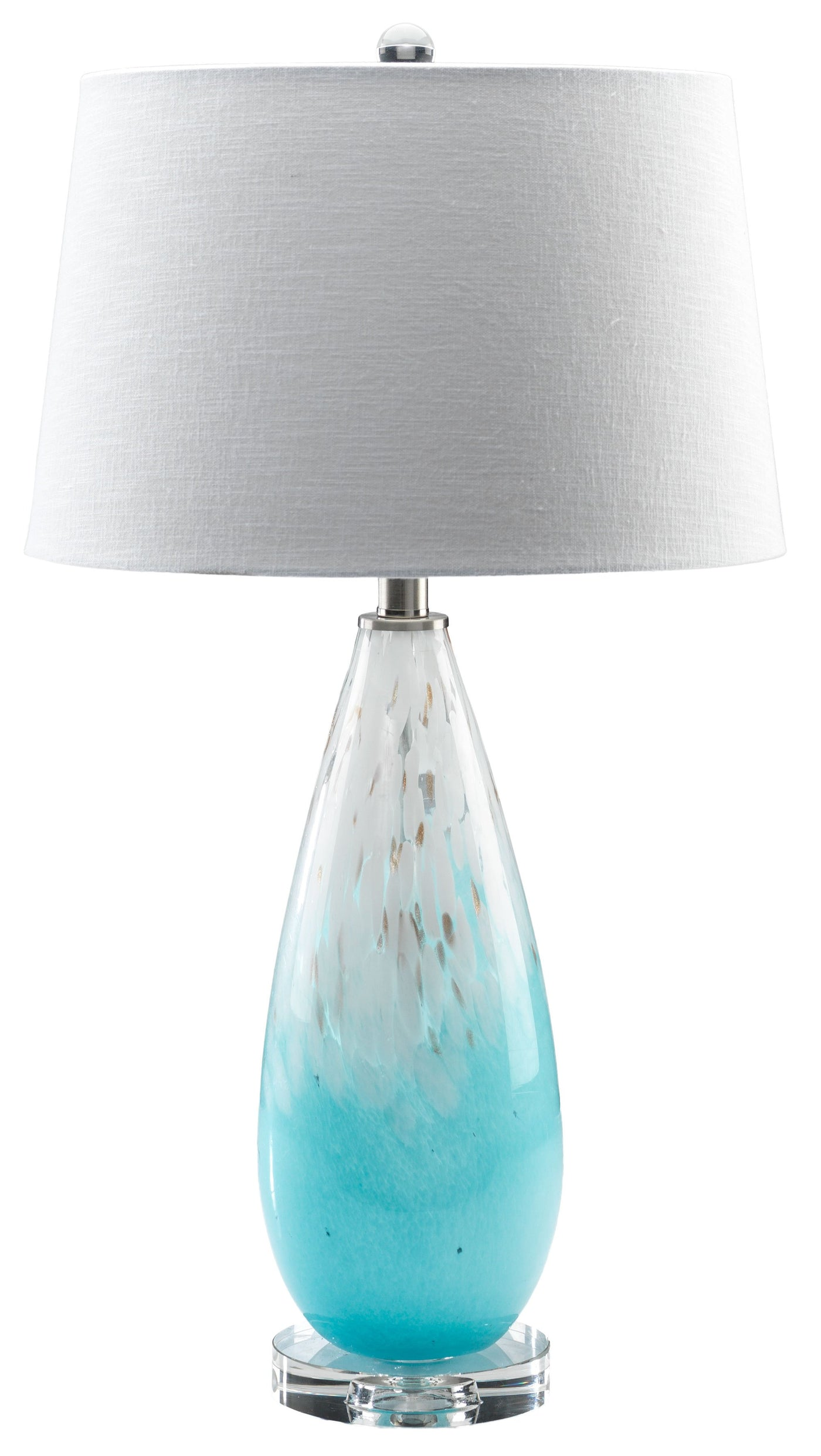 Lana 28 Table Lamp Blue And White Leon S
