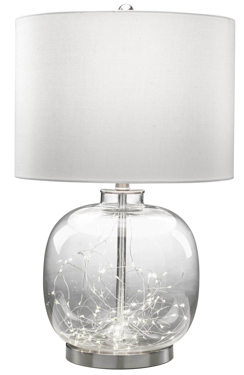 "Khloe 26"" Table Lamp - Glass and Nickel"