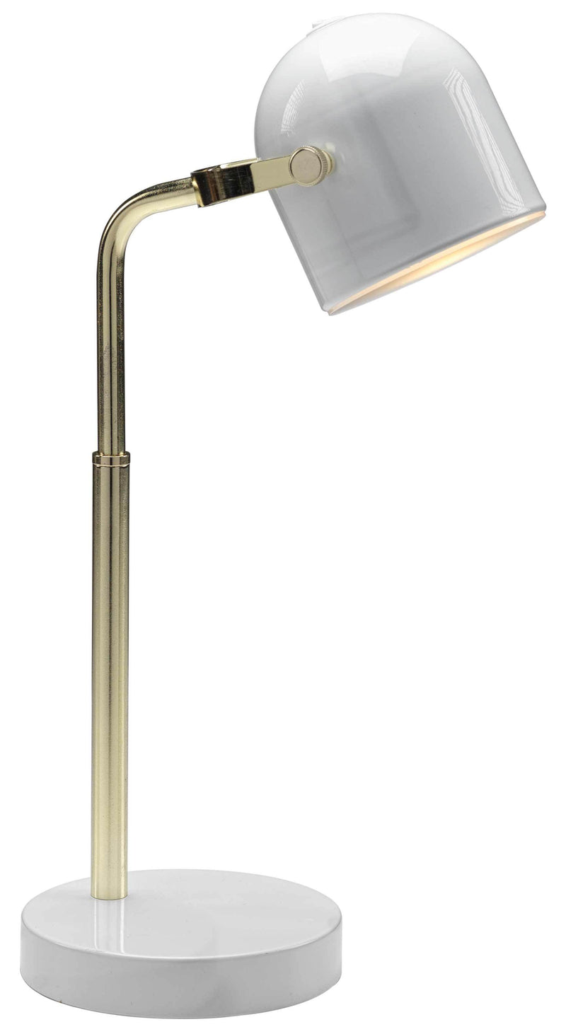"Lucia 16"" Table Lamp - Gold and White"