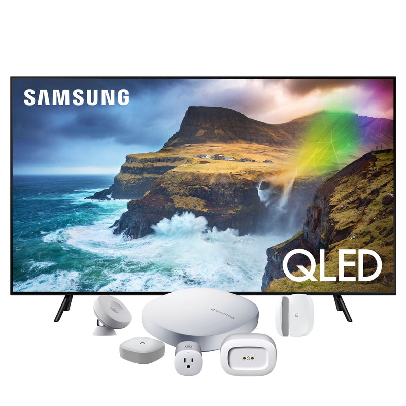 "Samsung 75"" Q70 QLED Television and SmartThings Starter Kit Package - QN75Q70RAFXZC/3860ZY"