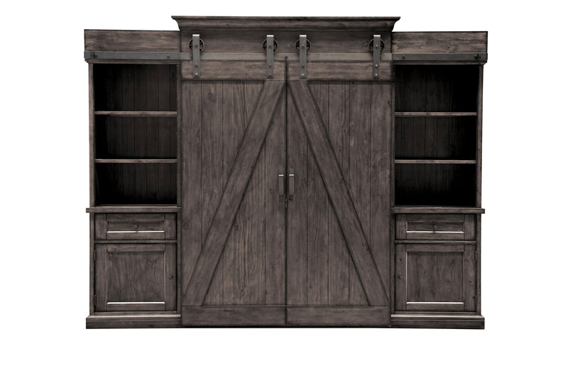 Gable 5-Piece Entertainment Wall Unit - Weathered Charcoal