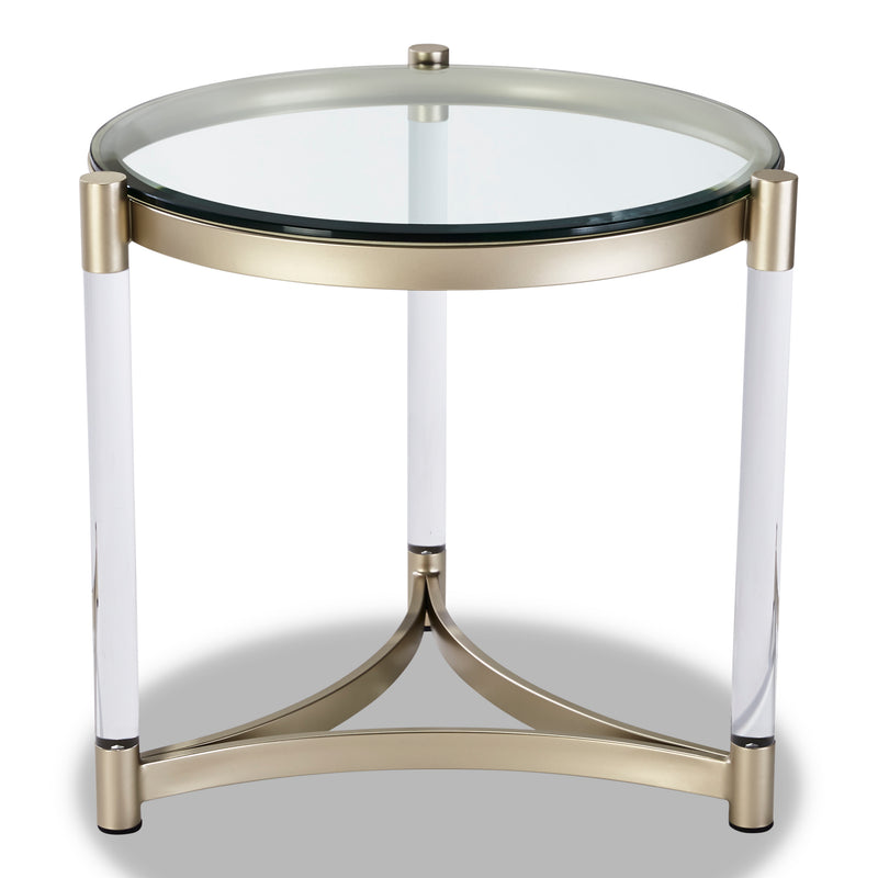 Silas End Table - Platinum