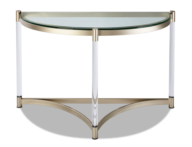 Silas Sofa Table - Platinum