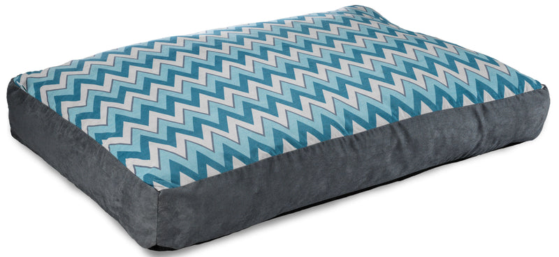 Slab Pet Bed Large - Blue Chevron