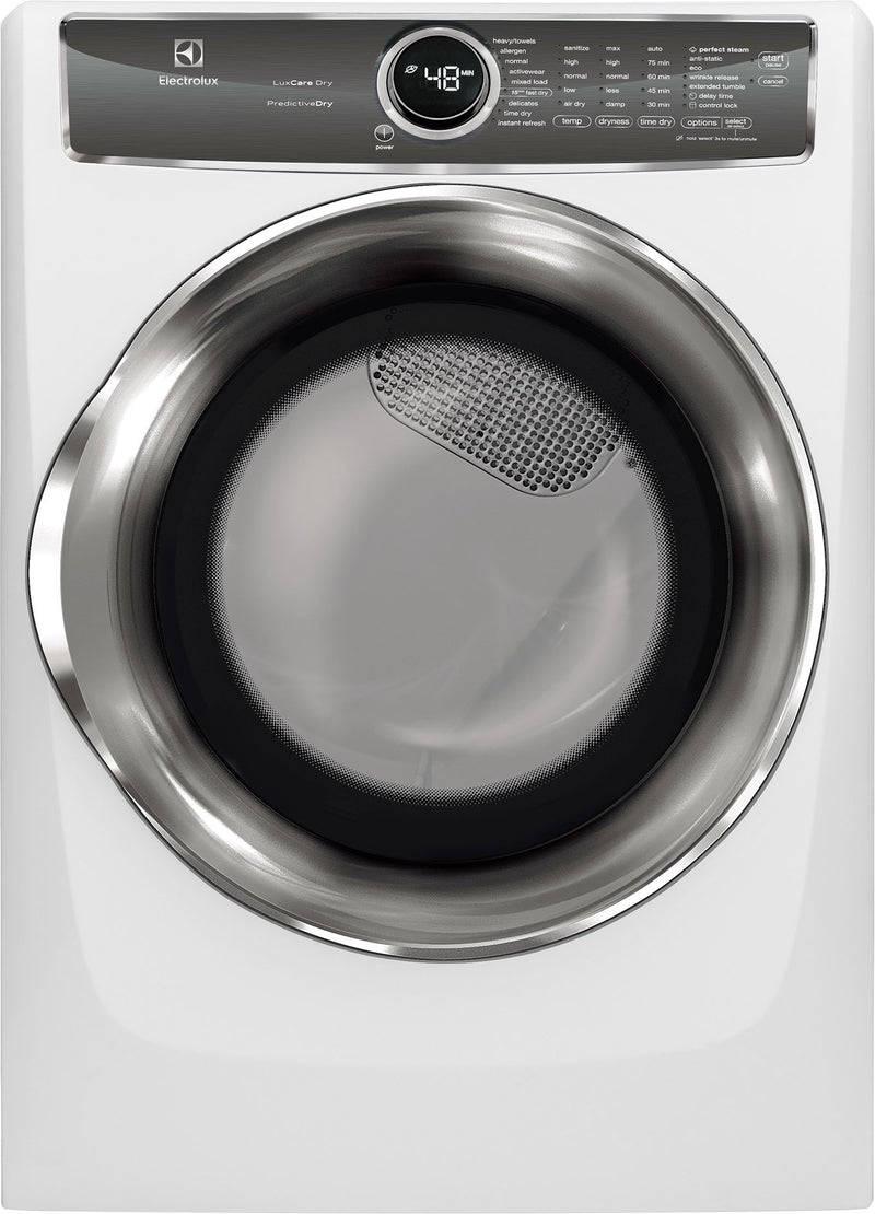 Electrolux White Steam Electric Dryer (8.0 Cu. Ft.) - EFMC627UIW