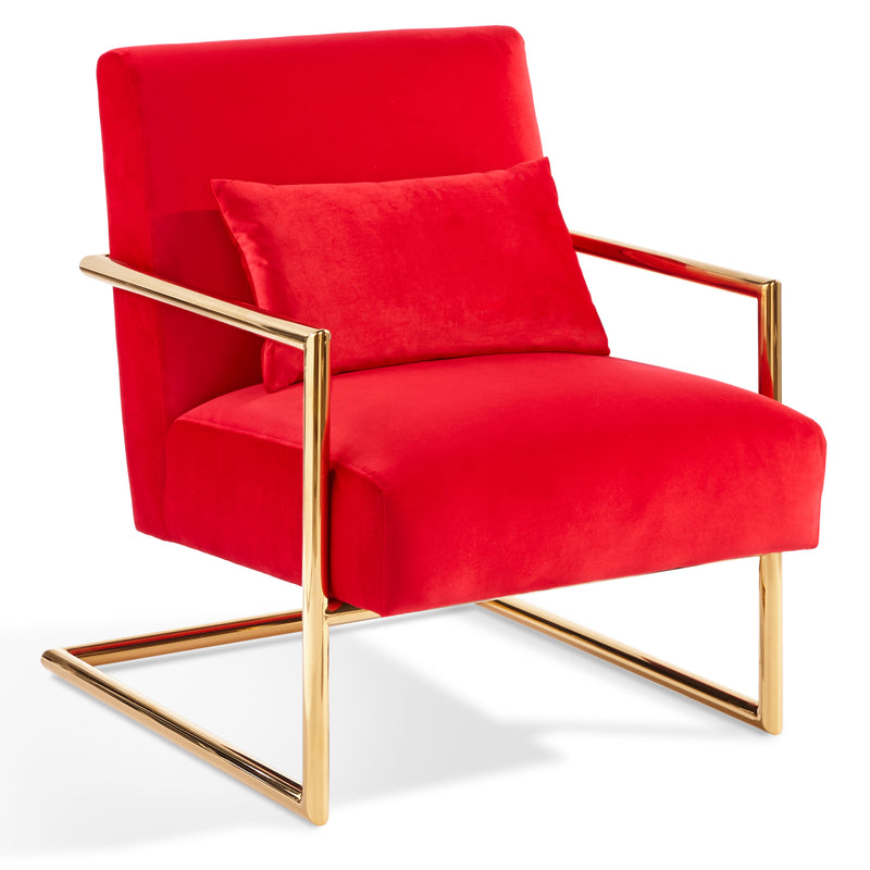Locklear Lounge Chair - Red