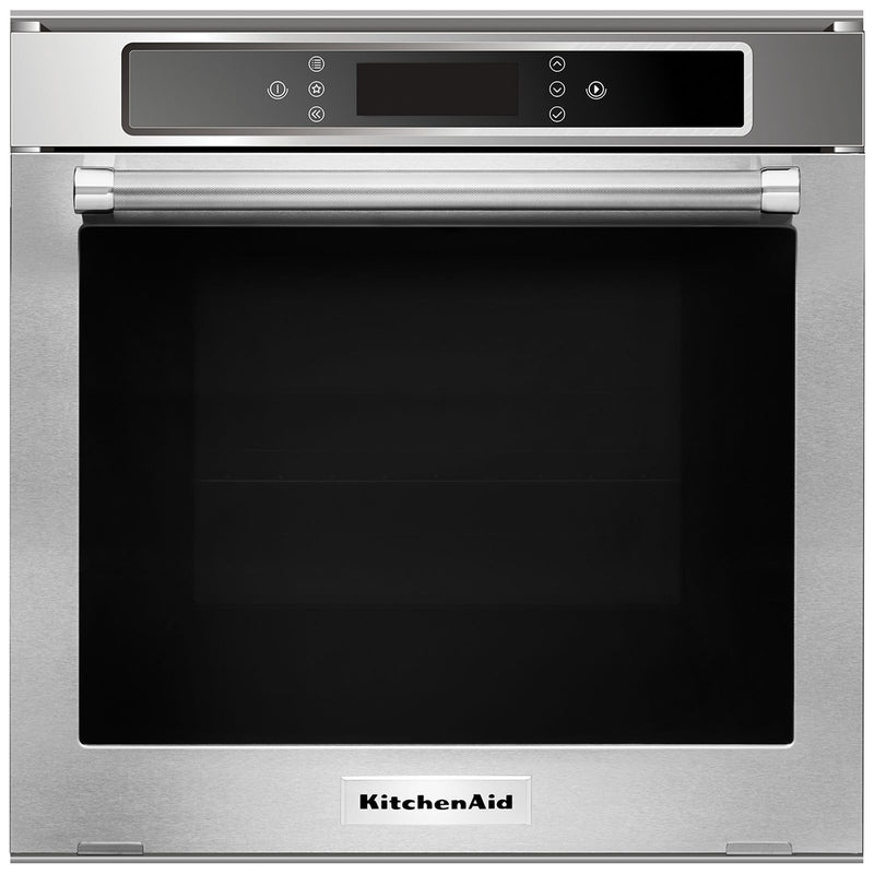 KitchenAid Stainless Steel Electric Single Wall Oven with True Convection (2.6 Cu.Ft.) - KOSC104FSS