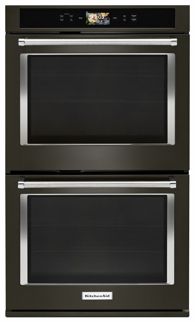 KitchenAid Black Stainless Smart Double Oven (10.0 Cu.Ft) - KODE900HBS