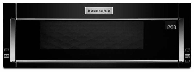 KitchenAid Black Low Profile Over-the-Range Microwave and Hood Combination (1.1 Cu.Ft.) - YKMLS311HBL