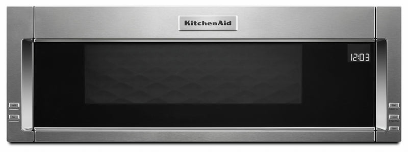 KitchenAid Stainless Steel Low Profile Over-the-Range Microwave and Hood Combination (1.1 Cu.Ft.) - YKMLS311HSS