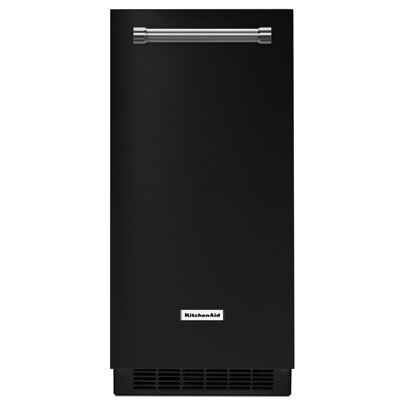 KitchenAid Black Automatic Ice Maker (15 inch.) - KUIX335HBL