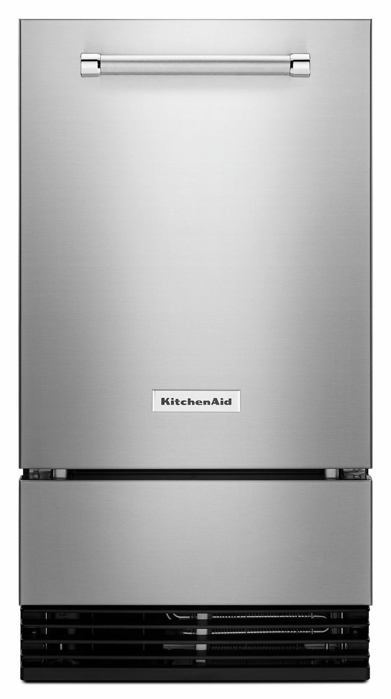 KitchenAid Stainless Steel Outdoor Automatic Ice Maker (35 lbs) - KUIO338HSS