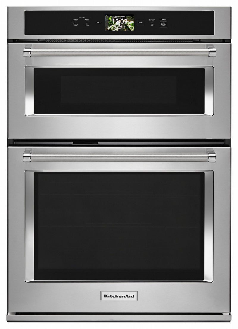 KitchenAid Stainless Steel Smart Combination Wall Oven (6.4 Cu.Ft.) - KOCE900HSS