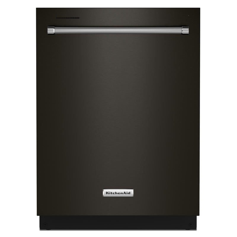 "KitchenAid® 24"" Black Stainless Dishwasher with Towel Bar Handle - KDTM404KBS"