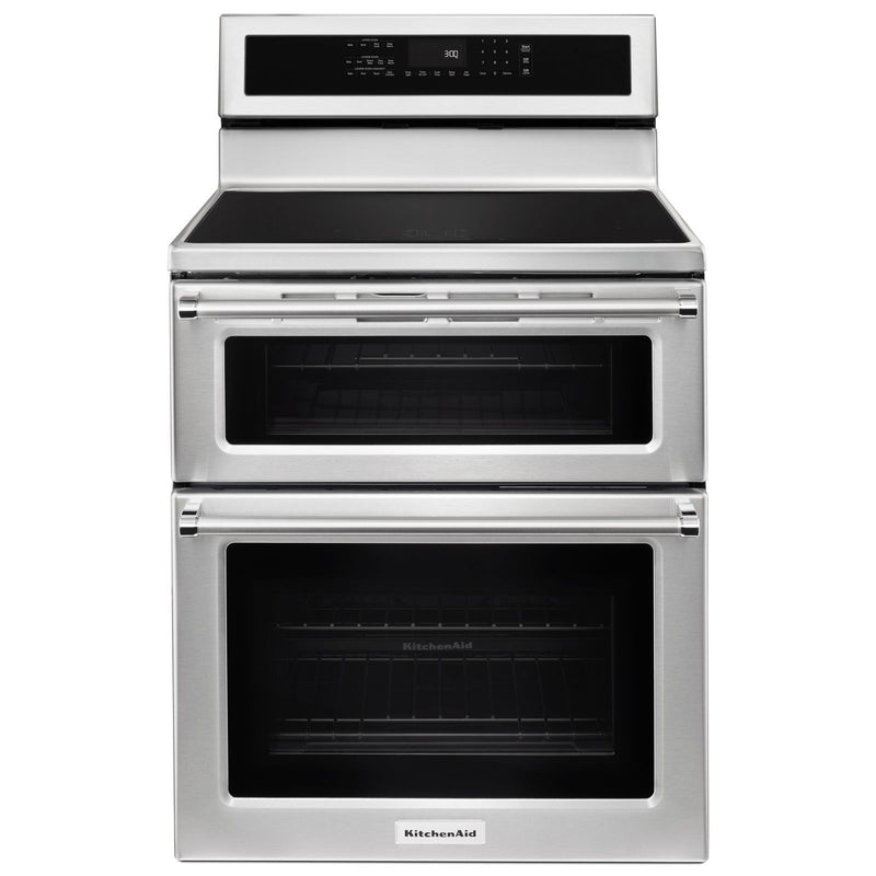 KitchenAid Stainless Steel Double Oven Induction Range (6.7 Cu.Ft.) - YKFID500ESS