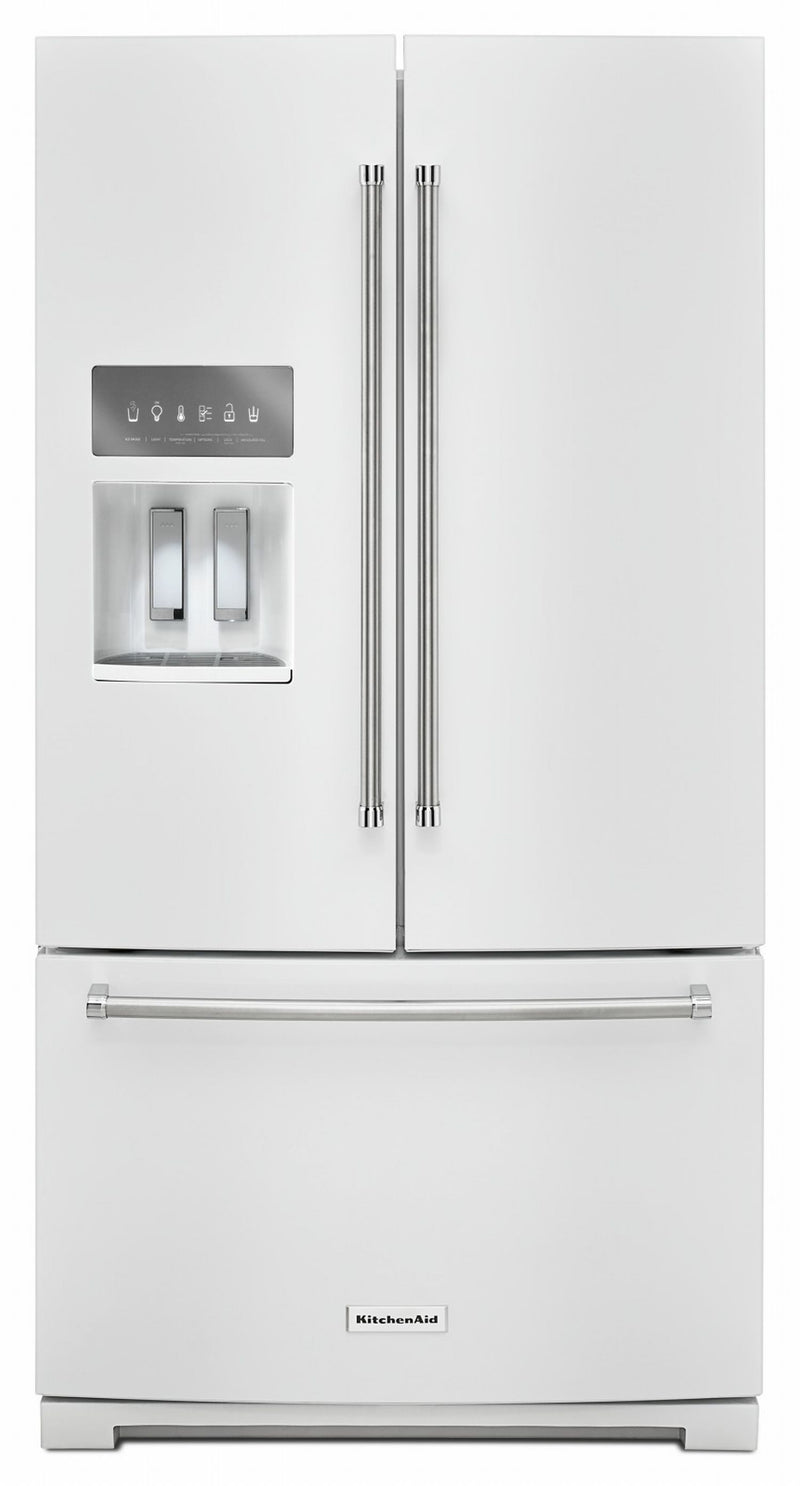 KitchenAid White French Door Refrigerator (26.8 Cu.Ft.) - KRFF507HWH