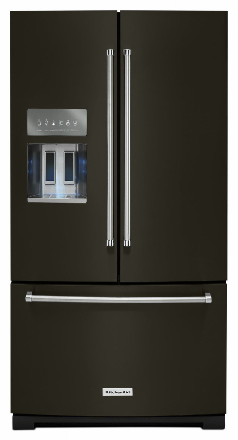 KitchenAid Black Stainless French Door Refrigerator (26.8 Cu. Ft.) - KRFF507HBS