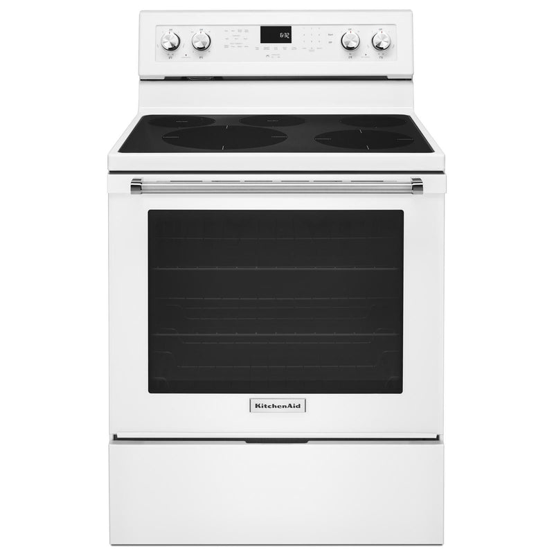 KitchenAid White Electric Convection Range (6.4 Cu.Ft.) - YKFEG500EWH