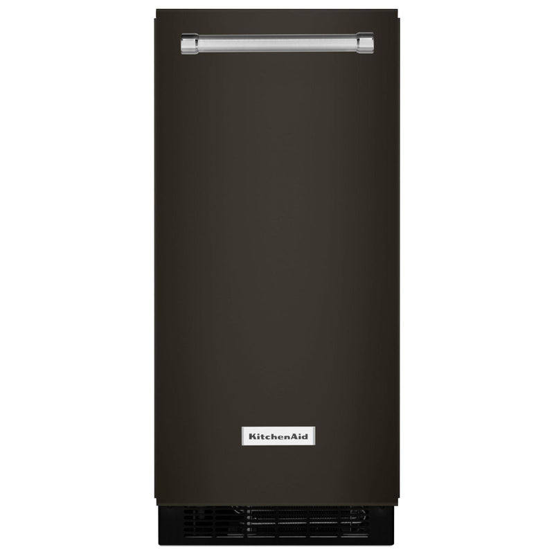KitchenAid Black Stainless Automatic Ice Maker (15 inch.) - KUIX535HBS