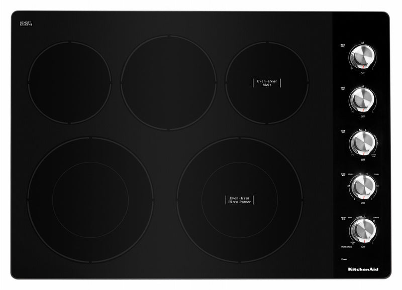 "KitchenAid Stainless Steel 30"" Electric Cooktop - KCES550HSS"