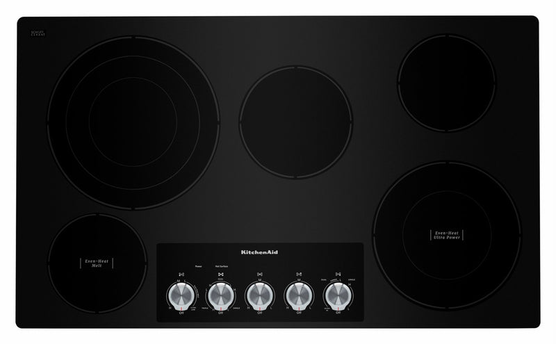 "KitchenAid Black 36"" Electric Cooktop - KCES556HBL"