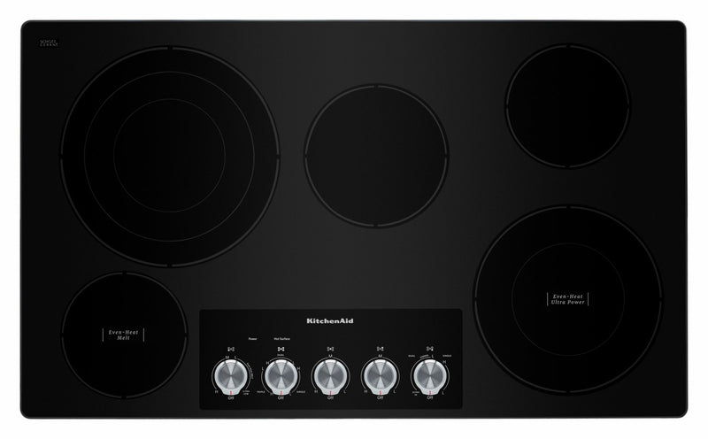 "KitchenAid Stainless Steel 36"" Electric Cooktop - KCES556HSS"