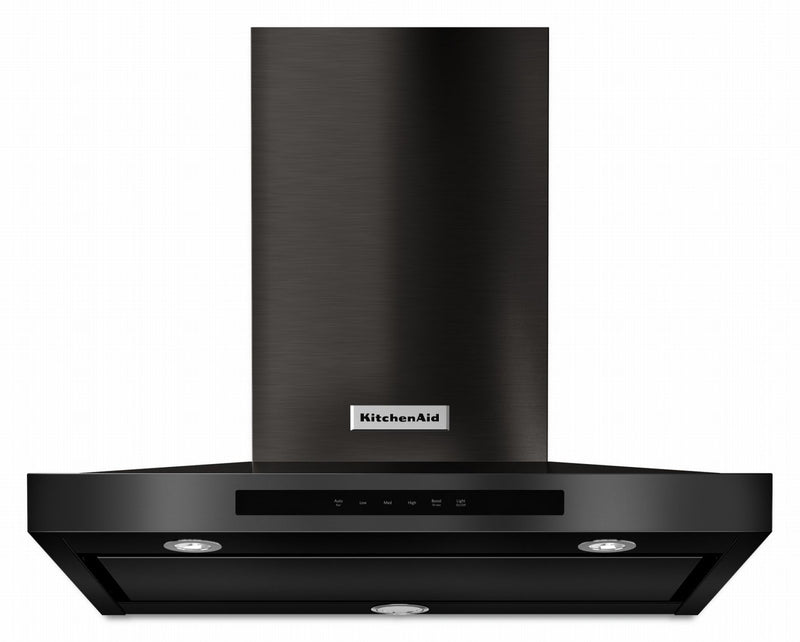 "KitchenAid Black Stainless 30"" Wall Mount Range Hood (585 CFM) - KVWB600HBS"