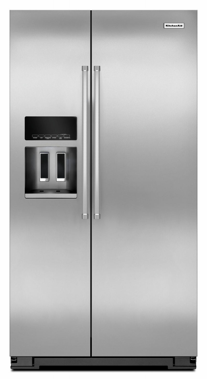 KitchenAid PrintShield Stainless Side-by-Side Refrigerator (19.9 Cu.Ft.) - KRSC700HPS