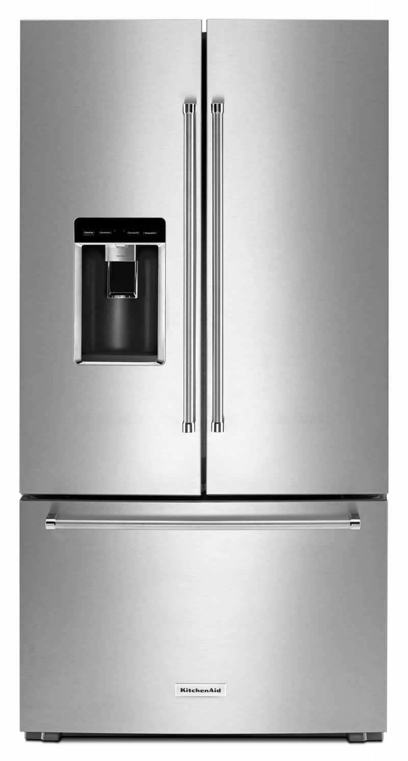 KitchenAid Stainless Steel Counter-Depth French Door Refrigerator (23.8 Cu. Ft.) - KRFC704FSS