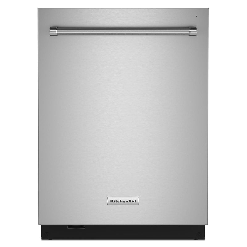 "KitchenAid® PrintShield Stainless 24"" Dishwasher with Towel Bar Handle - KDTM704KPS"