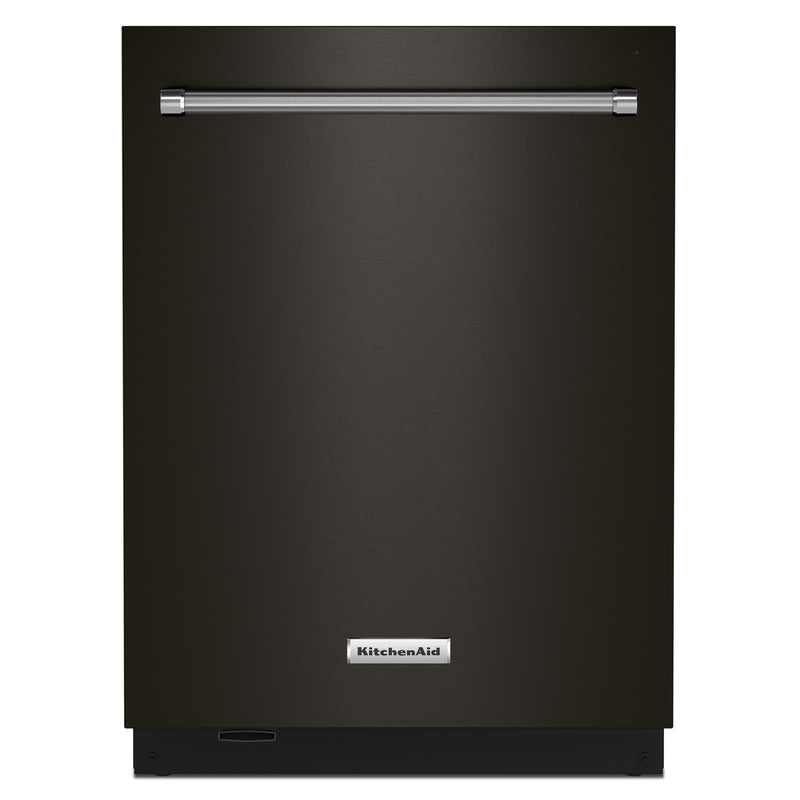 "KitchenAid® Black Stainless 24"" Dishwasher with Towel Bar Handle - KDTM804KBS"