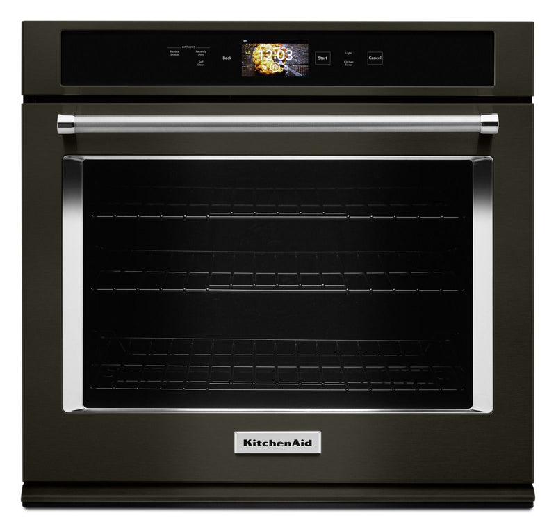 KitchenAid Black Stainless Smart Single Wall Oven (5.0 Cu.Ft.) - KOSE900HBS