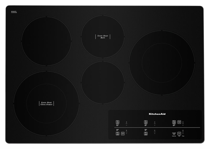 "KitchenAid Stainless Steel Smart 30"" Electric Cooktop - KCES950HSS"