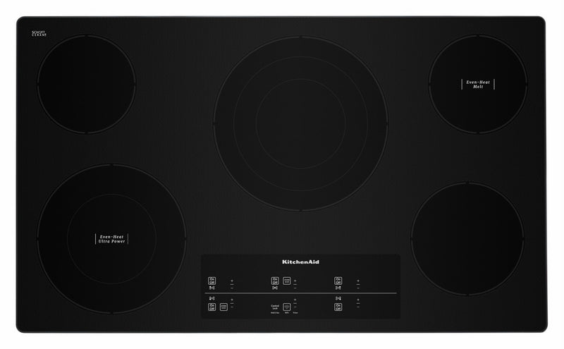 "KitchenAid Stainless Steel 36"" Smart Electric Cooktop - KCES956HSS"
