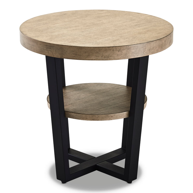 Pescara End Table - Antique Birch