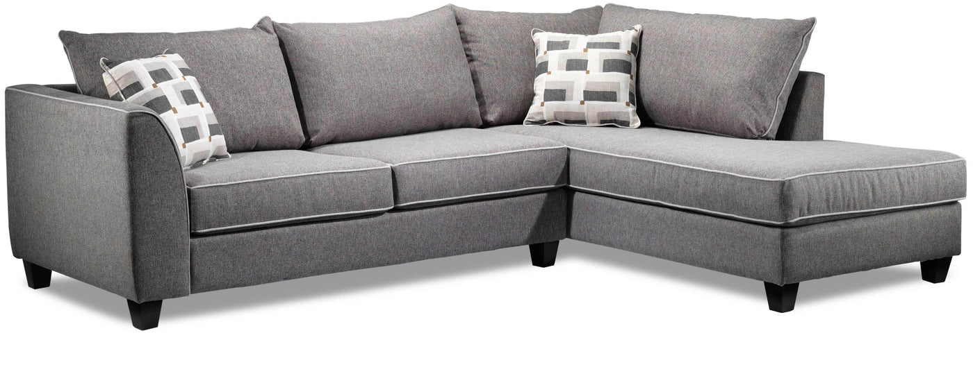 Fantastic Finnerty 2 Piece Sectional With Right Facing Chaise Silver Ibusinesslaw Wood Chair Design Ideas Ibusinesslaworg