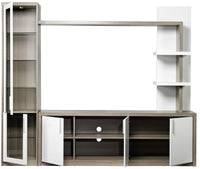 Woodbridge 3-Piece Entertainment Wall Unit - White & Grey