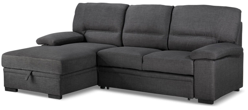 Tessaro Pop-Up Sofabed with Left-Facing Chaise - Charcoal