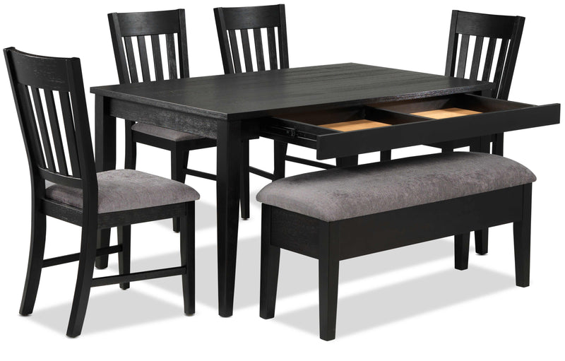 Haxby 6 Piece Dinette Set Weathered Grey Leon S