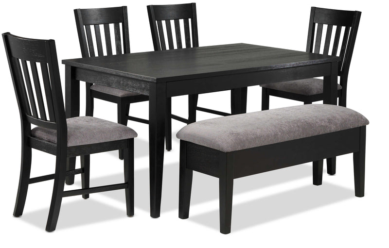 Haxby 6-Piece Dinette Set - Weathered Grey