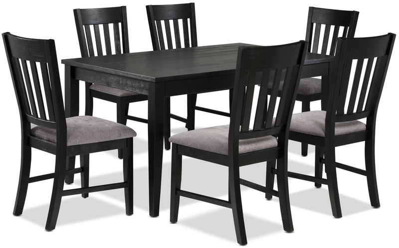 Haxby 7-Piece Dinette Set - Weathered Grey